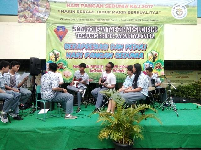 Peringatan Hari Pangan Sedunia (HPS) SMA Fons Vitae 2 Marsudirini Berjalan Lancar.