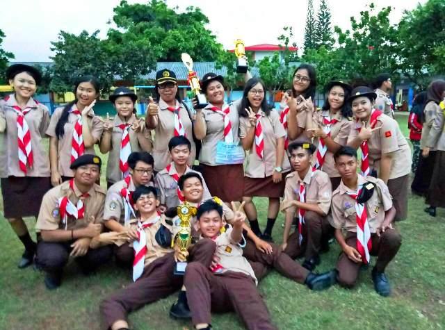 Pramuka SMA Fons Vitae 2 Marsudirini Berhasil Meraih Beberapa Piala Lomba Kwartir Ranting (SSC Koja) Jakarta Utara