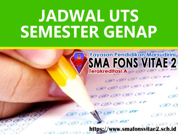 Jadwal UTS Semester Genap & Try Out Gunadarma 2019