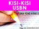 Kisi-Kisi dan POS USBN BSNP 2018