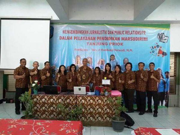 Peran Public Relations (PR) dan Jurnalistik dalam Pendidikan Marsudirini Jakarta Utara